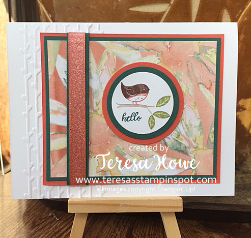 Birds, Card, Hello, Stampin' Up!, SU!, Hedgehugs, 2018Occasions
