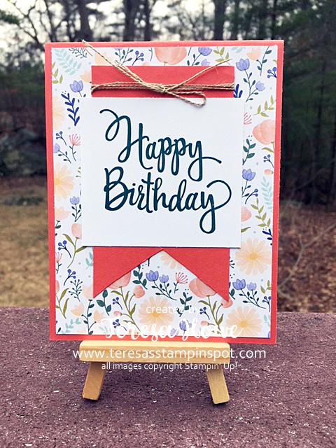 #loveitchopit, DSP, Delightful Daisy, Happy Birthday, Stampin' Up!, SU!