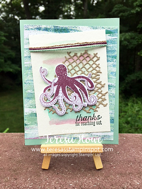 Thanks, Octopus, Sea of Textures, Stampin' Up!, SU!, 2018AnnualCatalog
